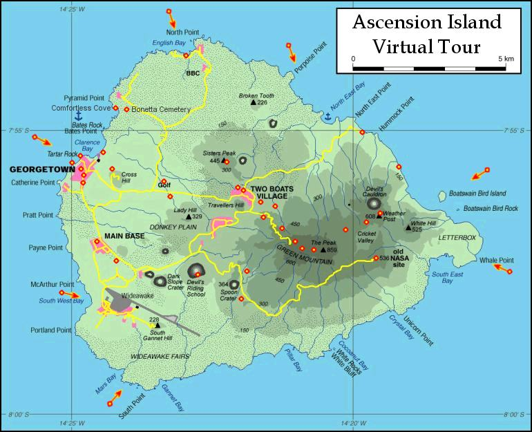Phonebook Of Ascension Islandcom By Phonebook Of The Worldcom - Ascension island google map