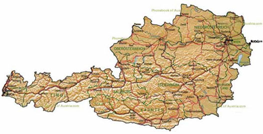 enlarge the map of Austria