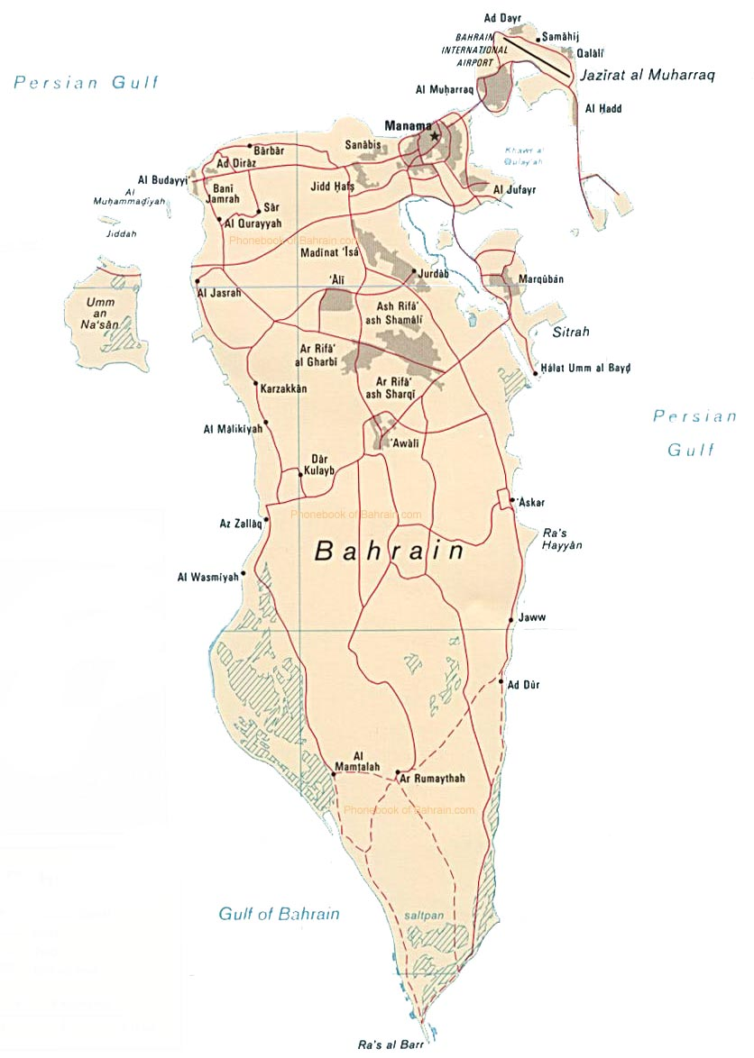 Map of Bahrain by Phonebook of