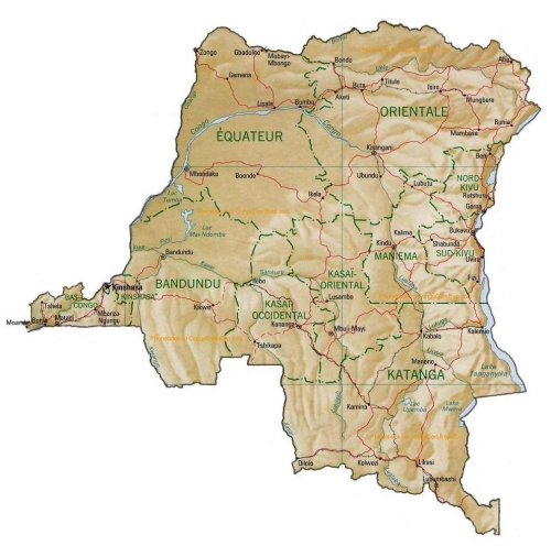 map of Congo