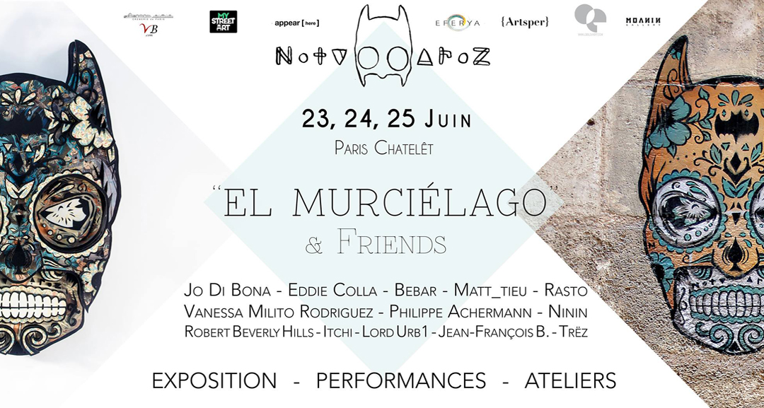 El Murcielago Expo at Cremerie de Paris, by Noty Aroz