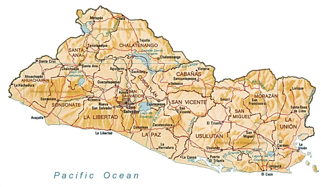 Phone book of el salvador 503 by phone book of the world map of el salvador gumiabroncs Gallery