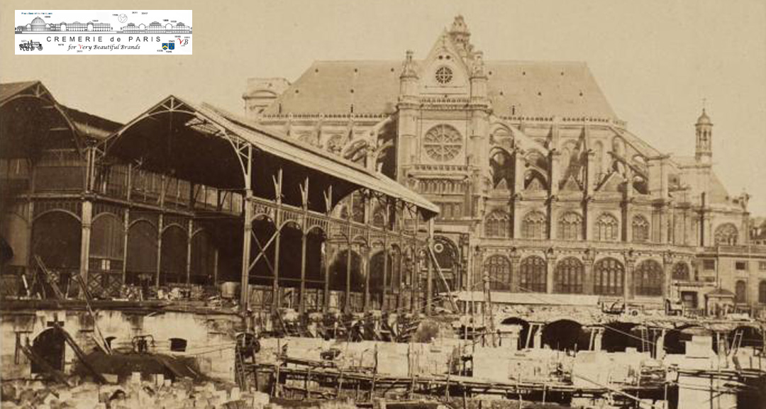 Pavillons Baltard under construction in 1867