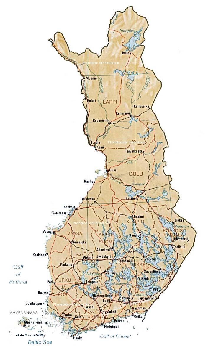 Suomi Kartta Kaupungit