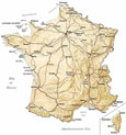 clickable map of France