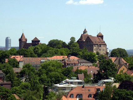 Pictures of Nuremberg - View of the Imperial Castle