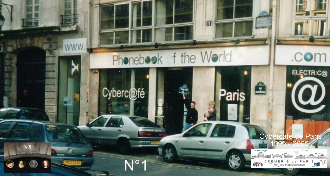 Phone Book of the World was invented at the first Cybercafe in Paris