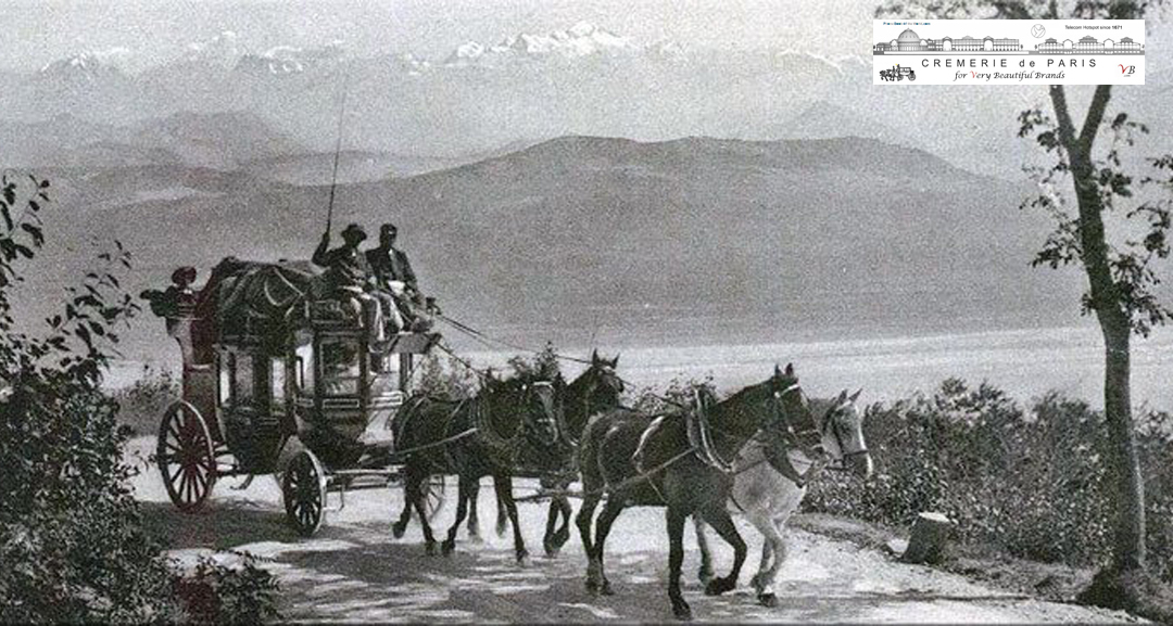 horses carying mail from Paris to Italy