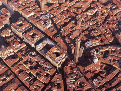 Pictures of Bologna (view on the 2 Towers)