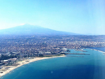 Pictures of Catania (view on the city of Catania and on Mount Etna)