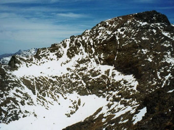 Jebel Toubkal, highest point of Morocco