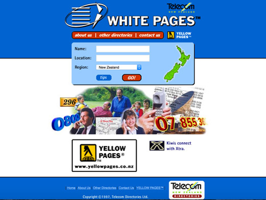 Whitepages.co.nz  form 1997
