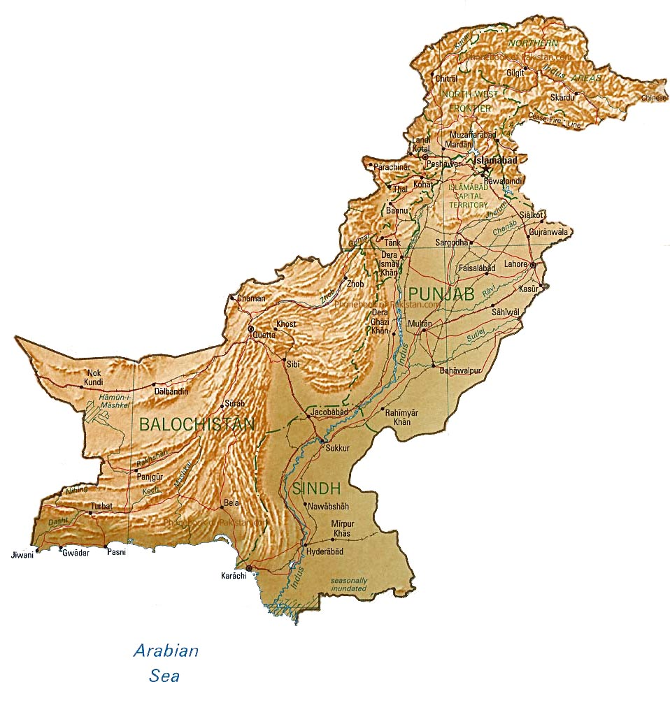 Map of pakistan phonebook of pakistan c m