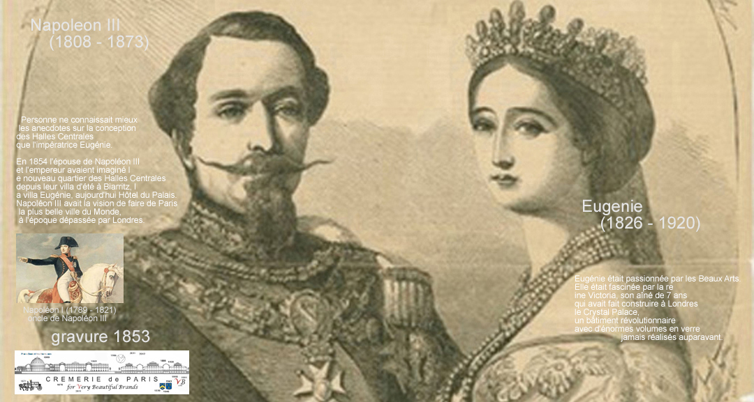 Empress Eugenie and Napoleon III