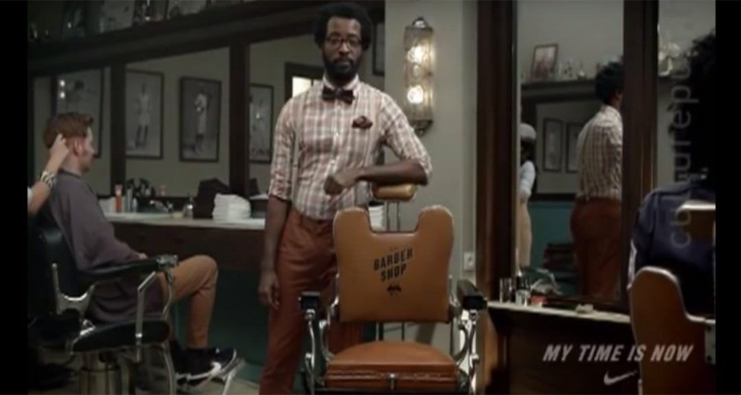 Nike Commercial My Time is Now at the Barber Shop Pop