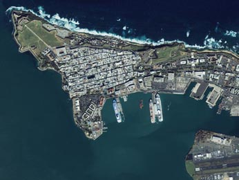 San Juan, capital and largest city of Puerto Rico (population 2.6 Mio people)