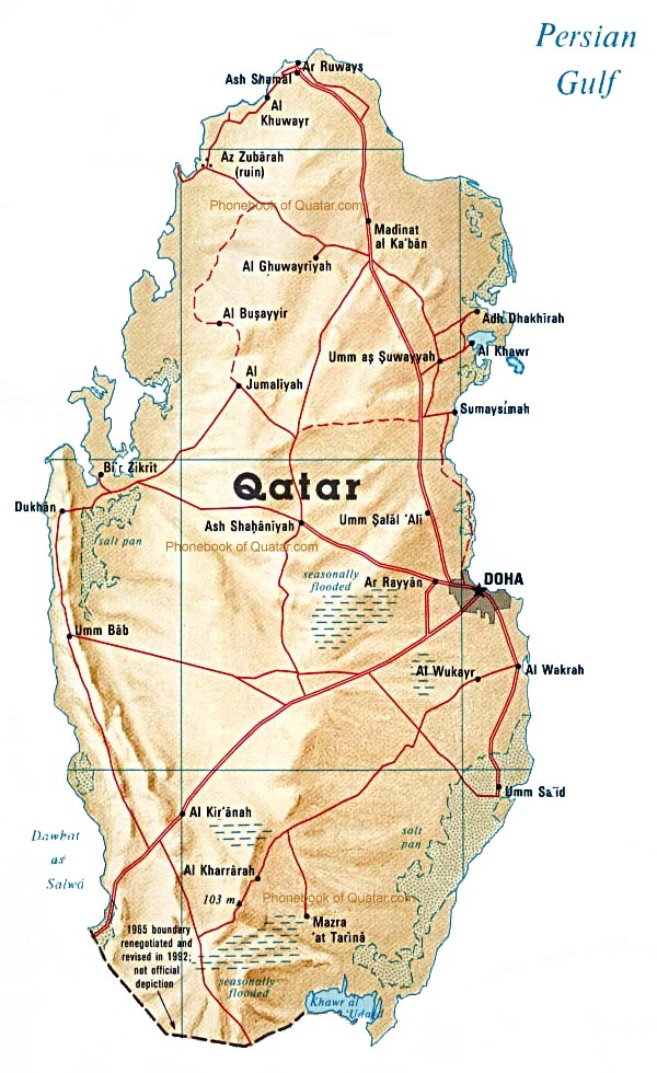 Phonebook of qatar 974 by phonebook of the world enlarge the map of qatar gumiabroncs Images