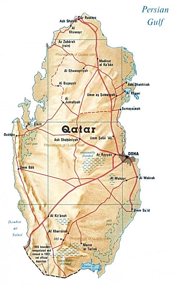 Map of Quatar by Phonebook of Quatar.com