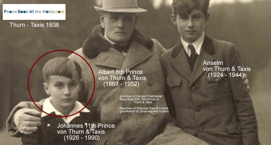 Albert von Thurn & Taxis avec ses petits fils Johannes et Anselm
