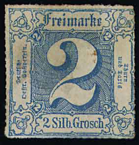 Thurn & Taxis stamp 2 Groschen