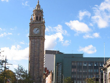 Pictures of Belfast - Prince Albert Clock on Queens Square