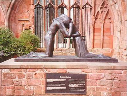Pictures of Coventry - Reconcilation Statue at Coventry Cathedral