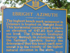 Ebright Azimuth on Ebright Road, highest point of Delaware