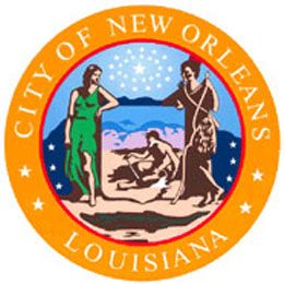 Website of the city administration of New Orleans