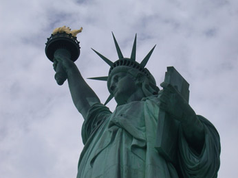 visit New York City (largest city of the USA and of the State of New York - 8,143,000 people)