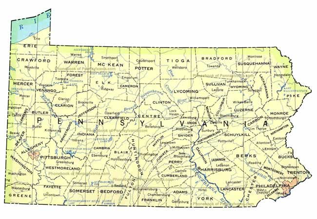enlarge the map of Pennsylvania