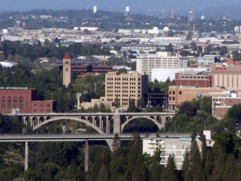 Spokane, 2nd largest city of Washington (population 198,000 people)