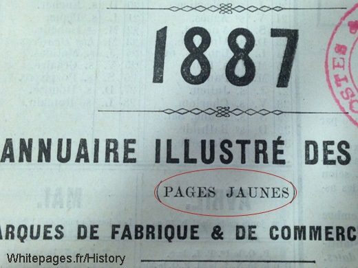 French Yellow Pages from 1887